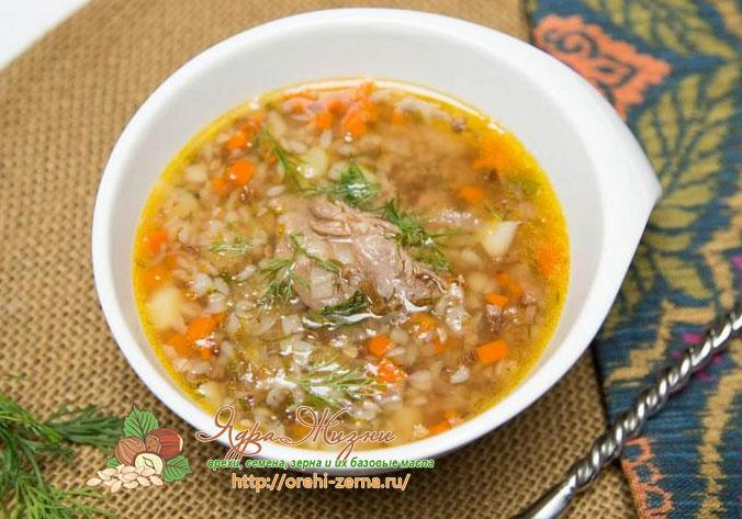 суп с гречневой крупой с мясом