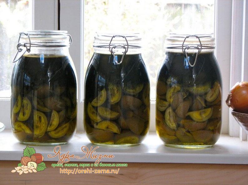 Как сделать керосин с грецким орехом настойку