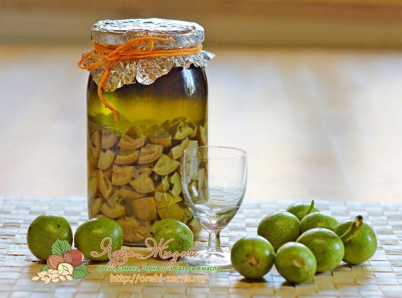 настойка зеленых грецких орехов на водке