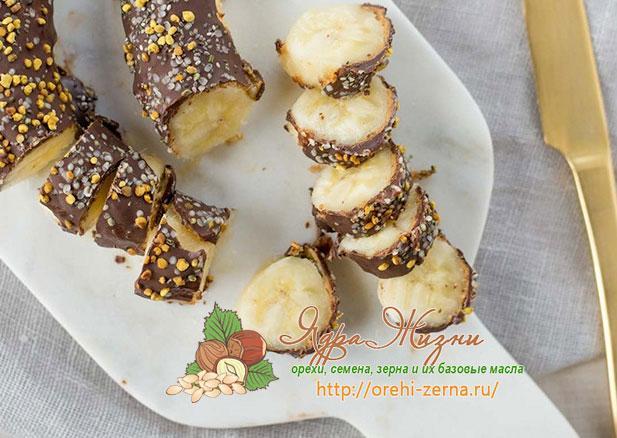 банановые роллы с шоколадом рецепт