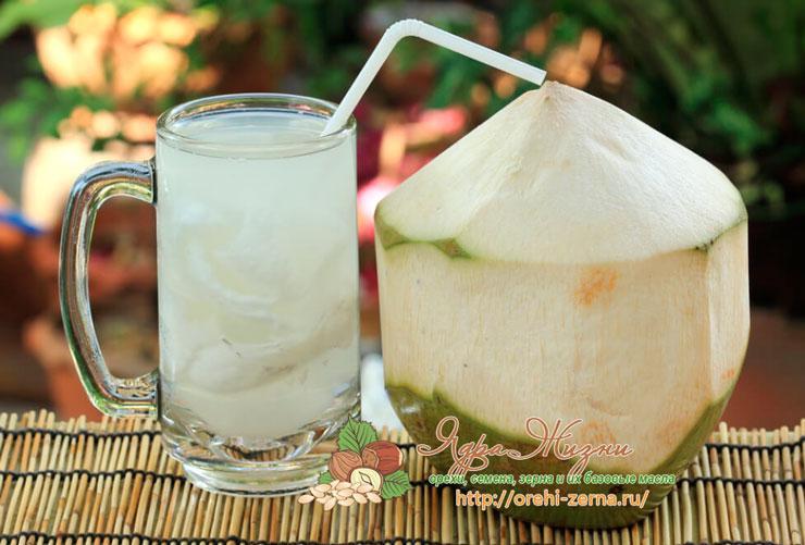 Лечебные свойства кокосовой воды