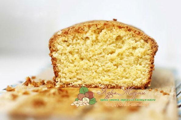 рецепт как приготовить кекс с миндальным орехом