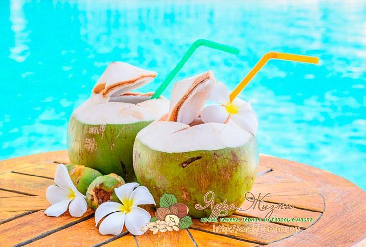 Кокосовая вода: применение
