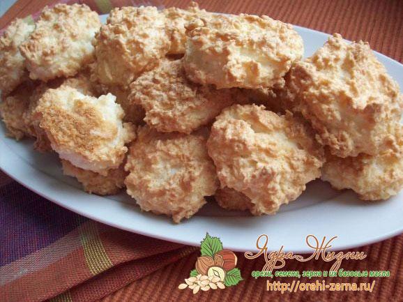 печенье с кокосовым сахаром и кокосовой стружкой