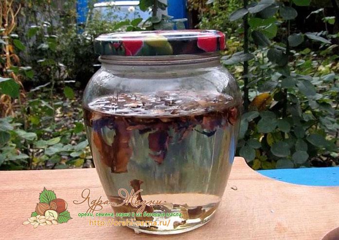 Настойка из перегородок грецких орехов: рецепт приготовления
