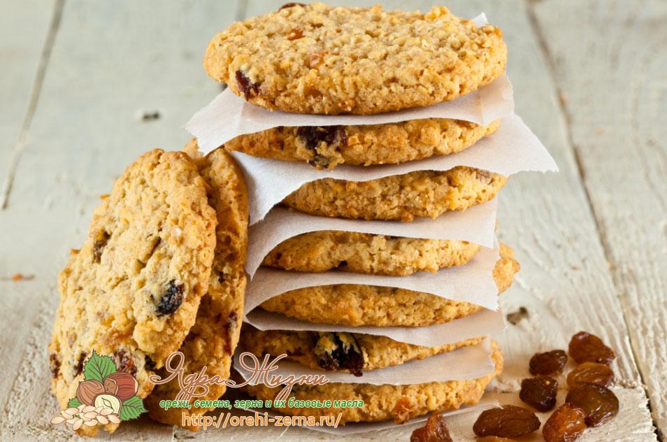овсяное печенье на кокосовом масле