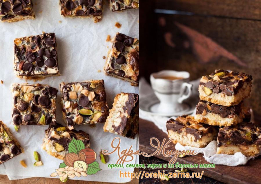 сливочное печенье с орехами и шоколадом рецепт