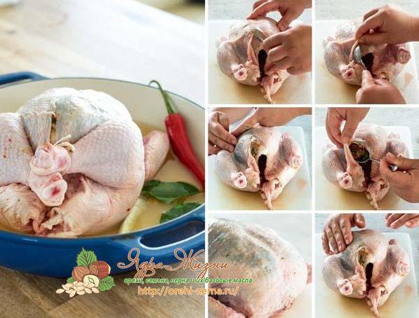 цыпленок в духовке в скокосово-молочной подливе