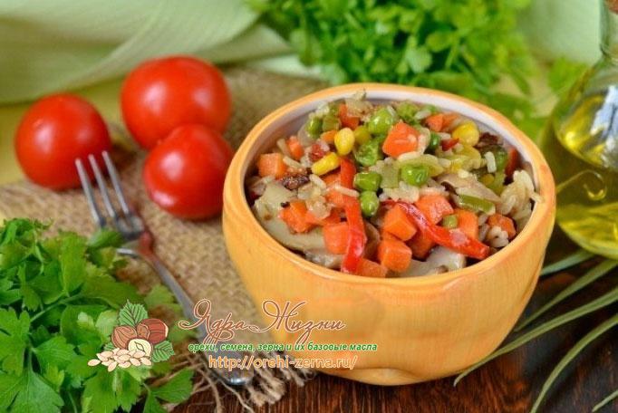 рагу с грибами и рисом