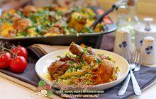 окорочка с рисом в духовке