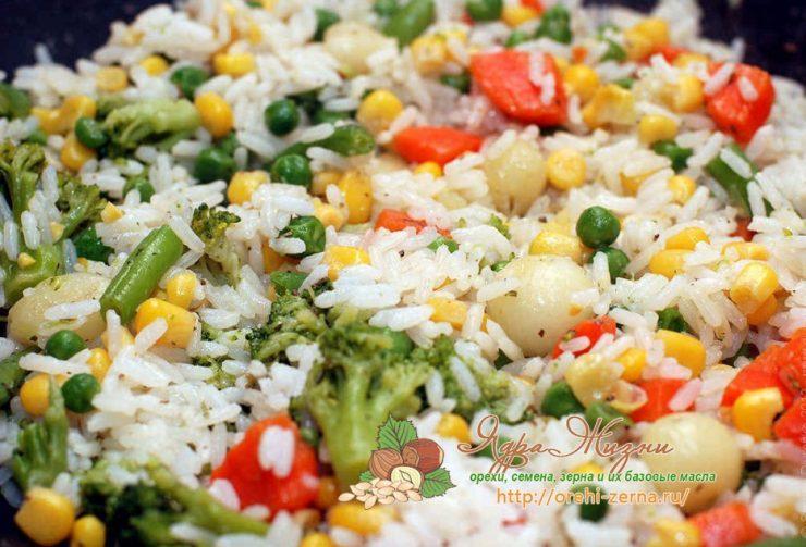 Рис с овощами на пару: рецепт в домашних условиях