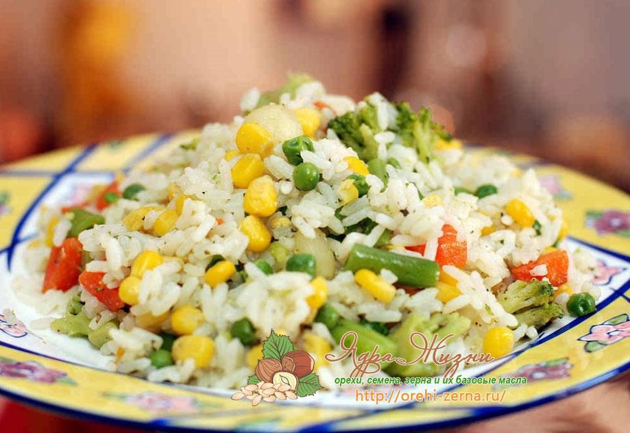 рис с овощами на пару рецепт