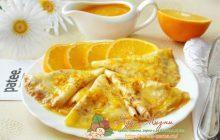 русские блины с апельсинами и риккотой