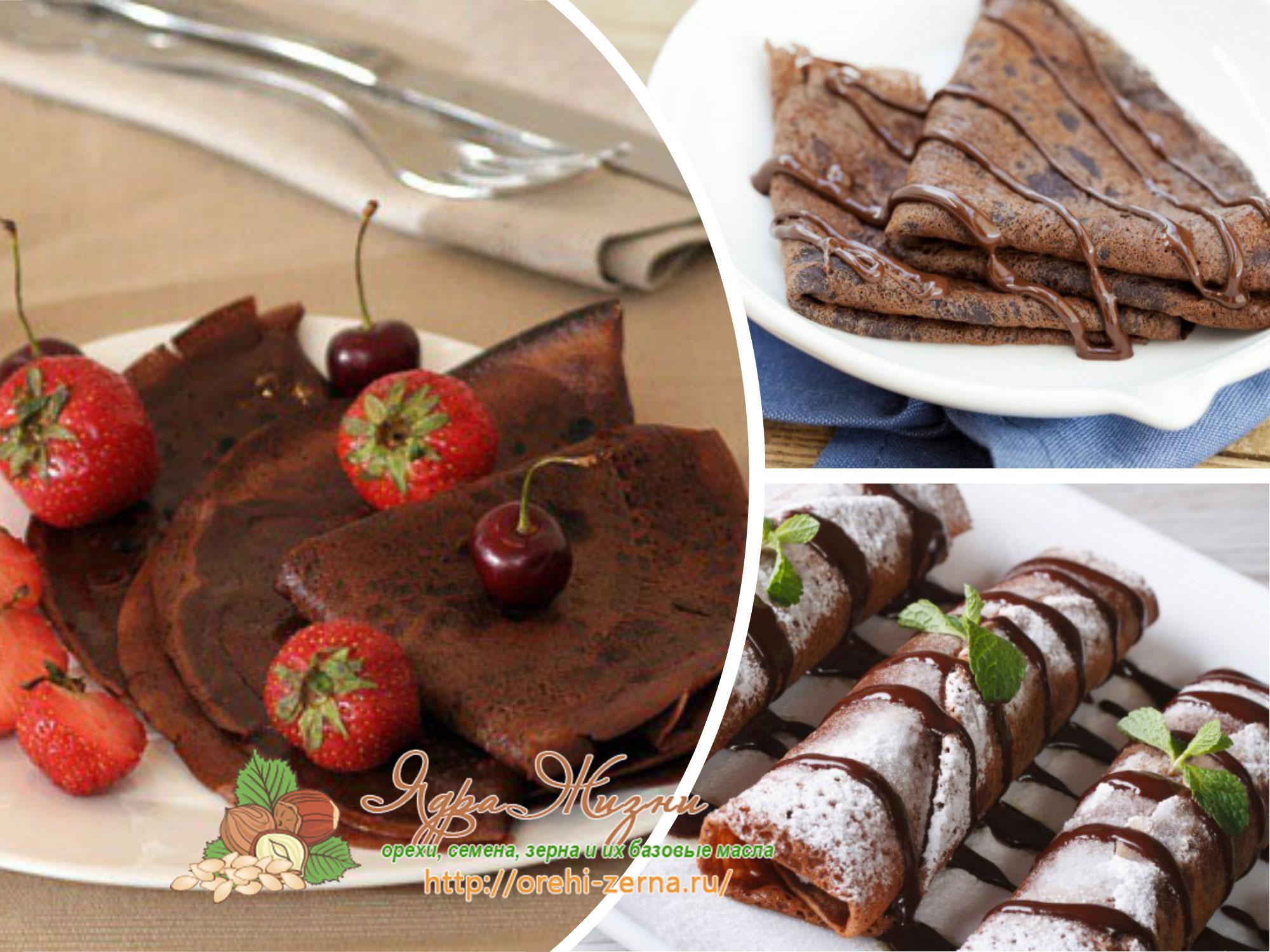 шоколадные блины с какао