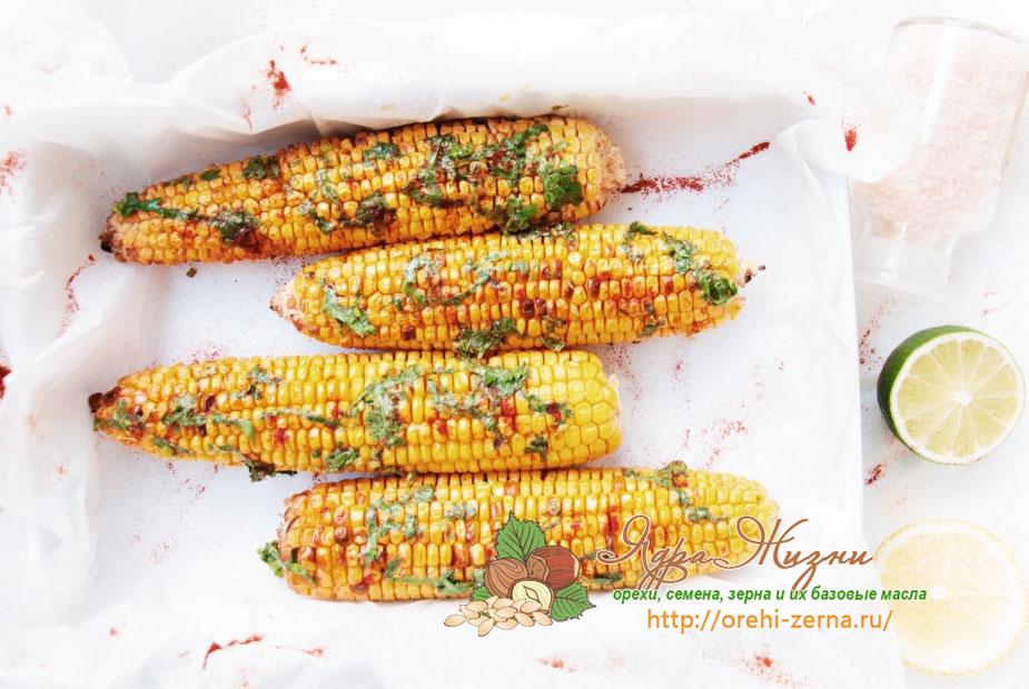 жаренная кукуруза на гриле