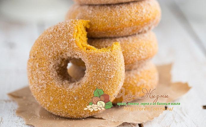 тыквенные пончики с корицей и мускатным орехом