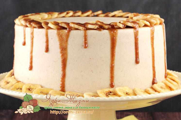 рождественский банановый торт