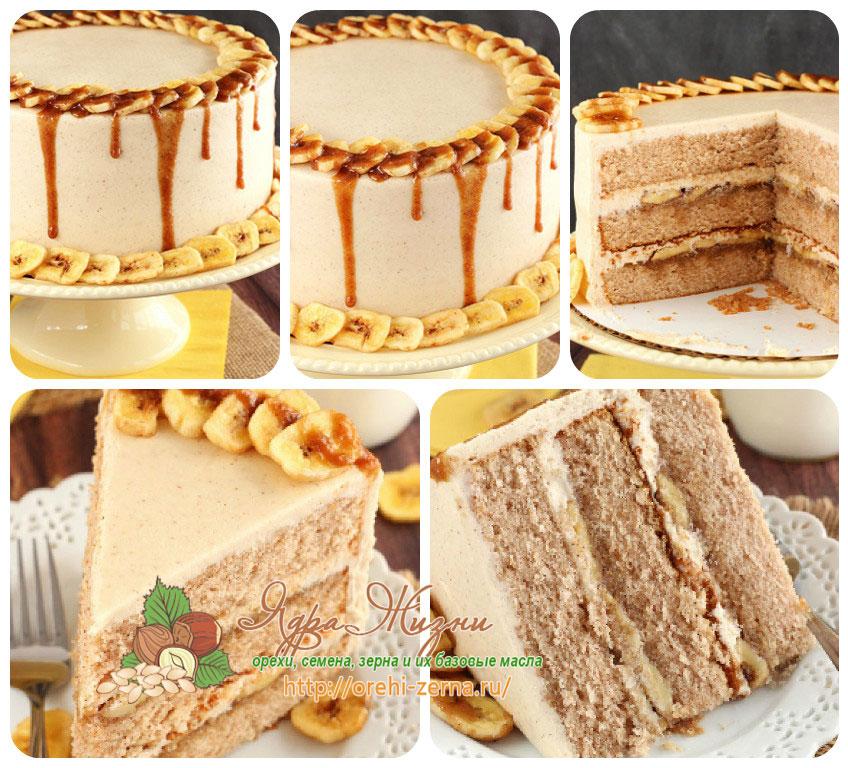 как приготовить банановый торт на Рождество