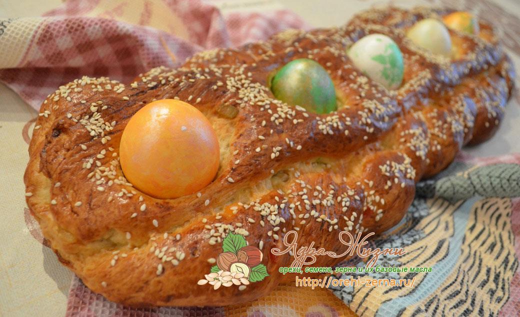 греческий пасхальный пирог Цуреки рецепт