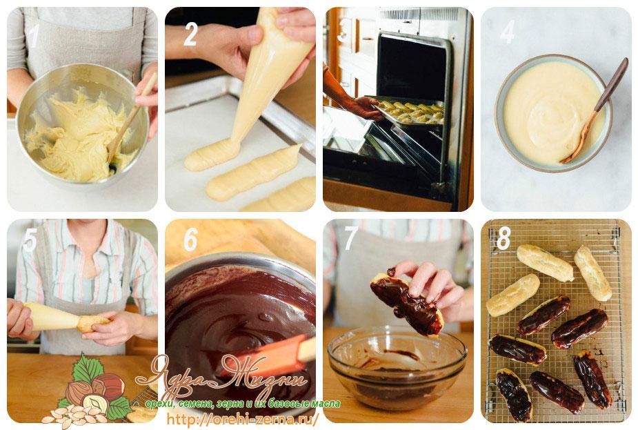 Крем для заварных пирожных в домашних условиях 569