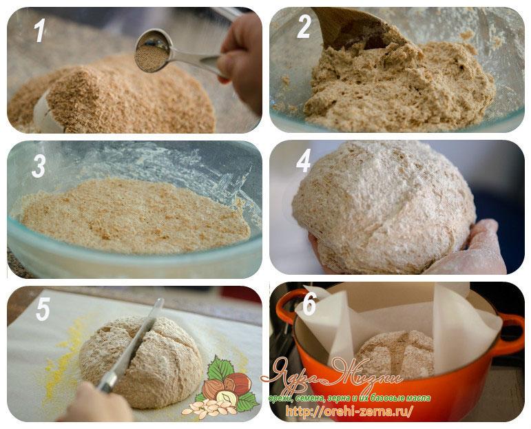 пшеничный хлеб с отрубями рецепт
