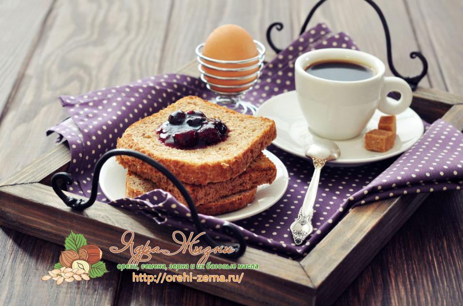 Кофе утром на завтрак