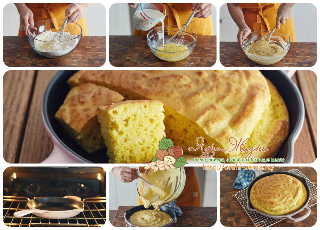кукурузный хлеб на пахте рецепт