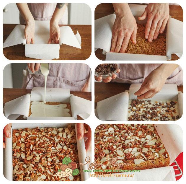 Приготовление: ореховое печенье Пан