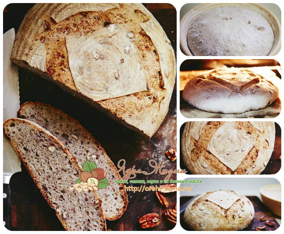 как испечь ржаной хлеб с орехами пекан