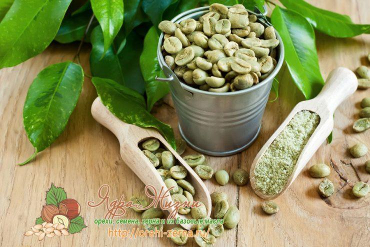 Полезные свойства зеленого кофе используемые в народной медицине