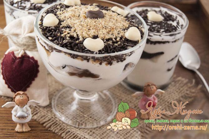 Чернослив с орехами в сметане с шоколадом