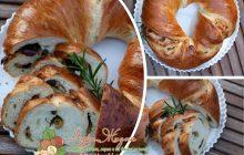 домашний хлеб с оливками
