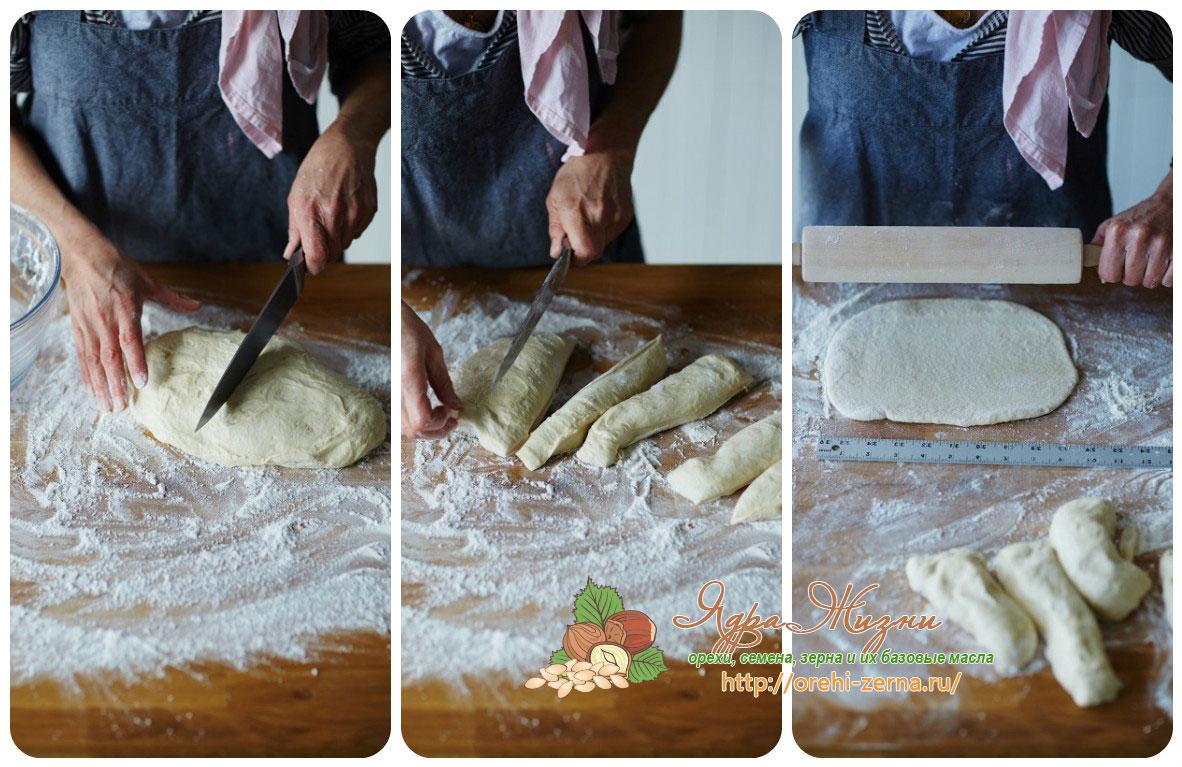 Хлеб с начинкой из шпината
