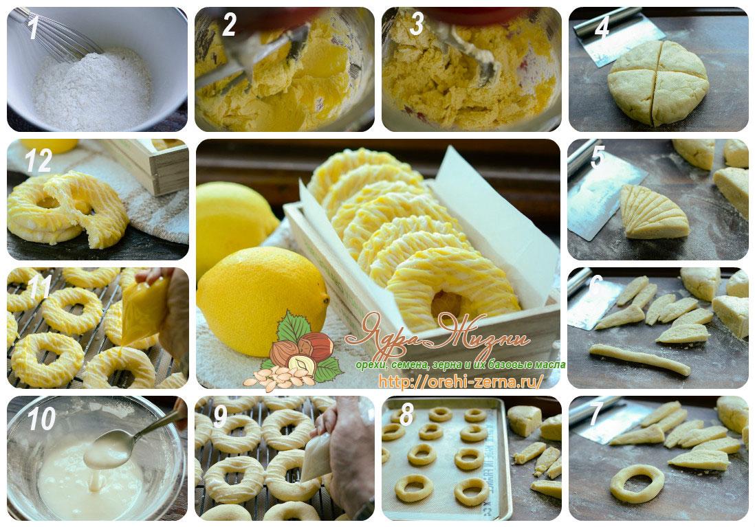Рецепт колец с лимоном