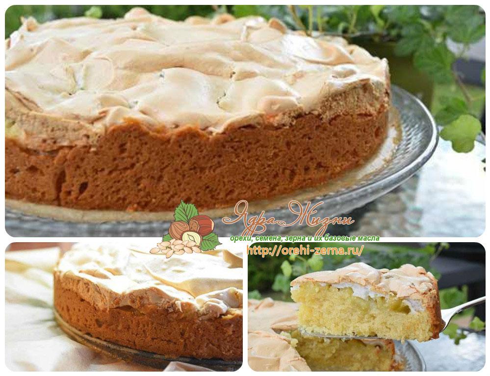 пирог с меренгой и ревенем рецепт