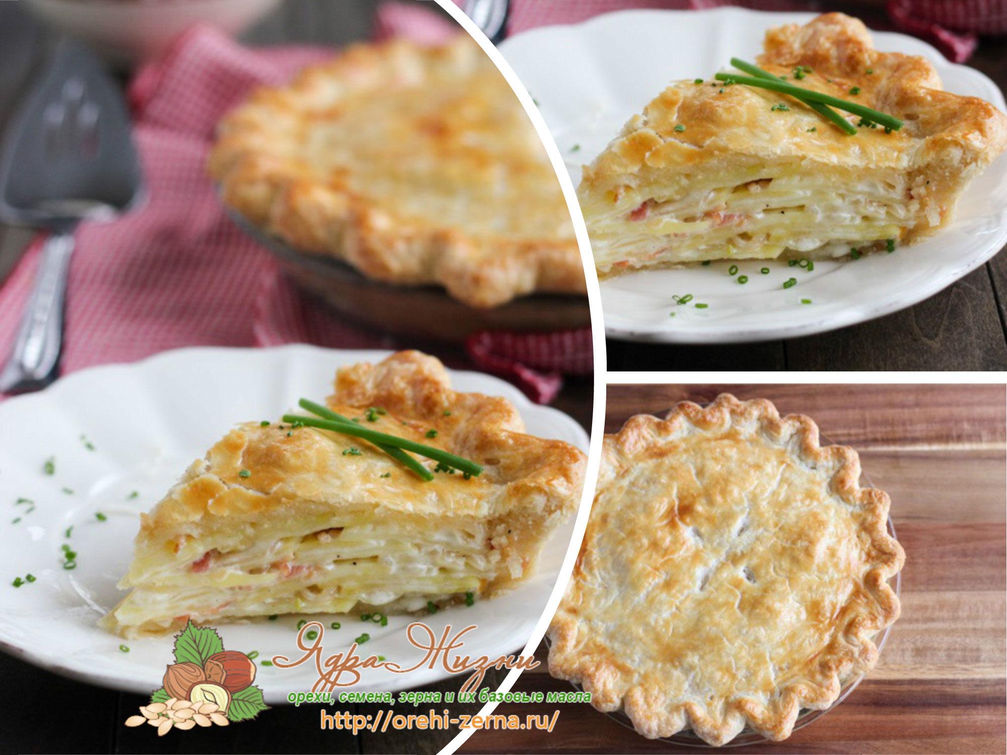 пирог с картошкой и беконом рецепт