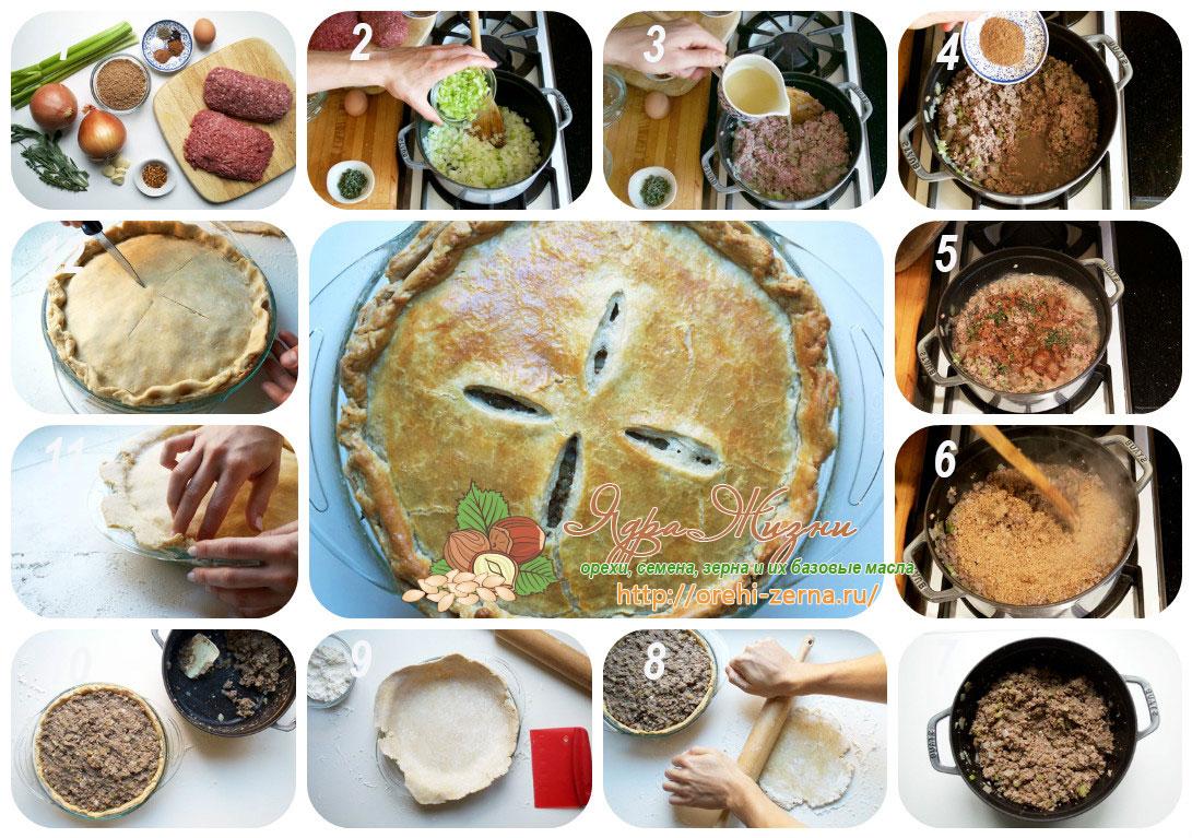 мясной пирог рецепт
