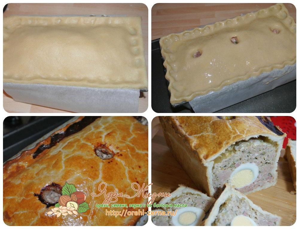 Выпекание мясного пирога