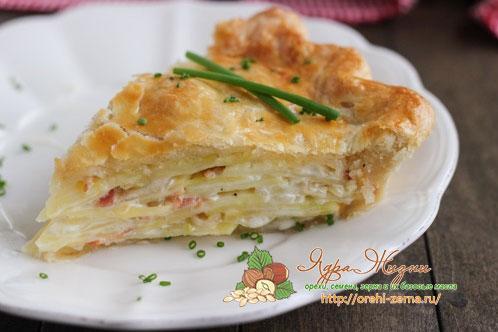 пирог с картошкой рецепт приготовления
