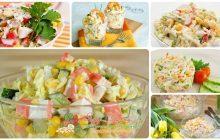 Крабовый салат - разные варианты