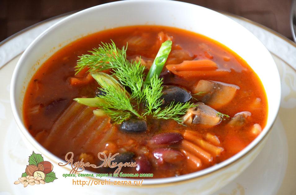 Красная фасоль для супа или борща