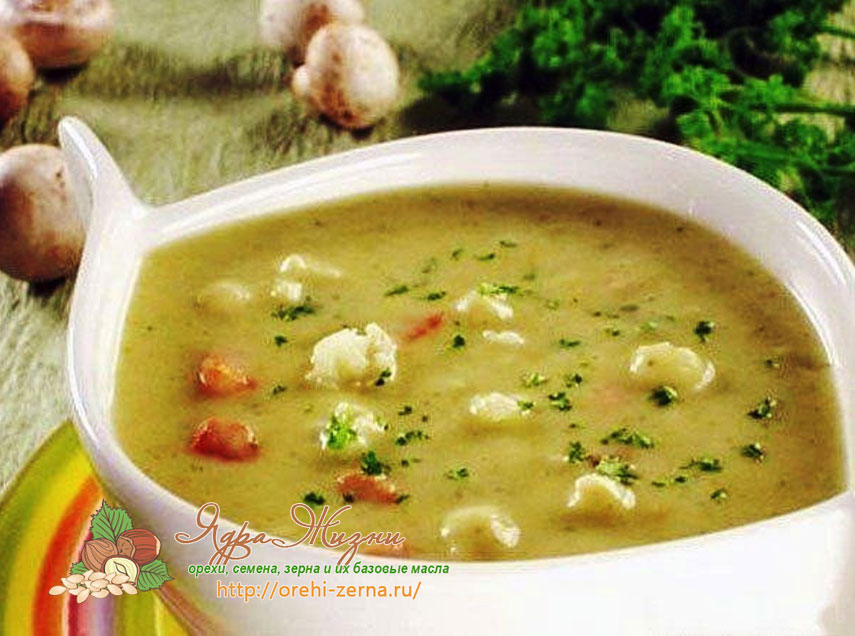 Картофельный суп-пюре с пшеном