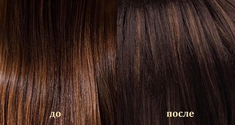 Результат окрашивания волос с кофе: До и После