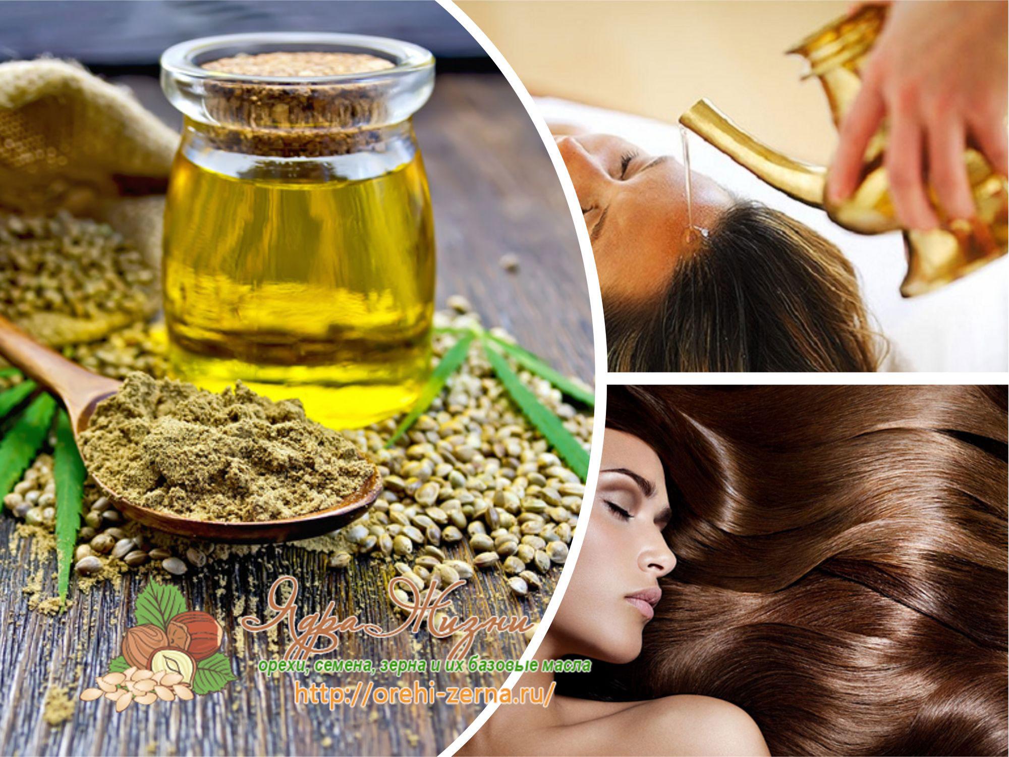 Применение конопляного масла для волос