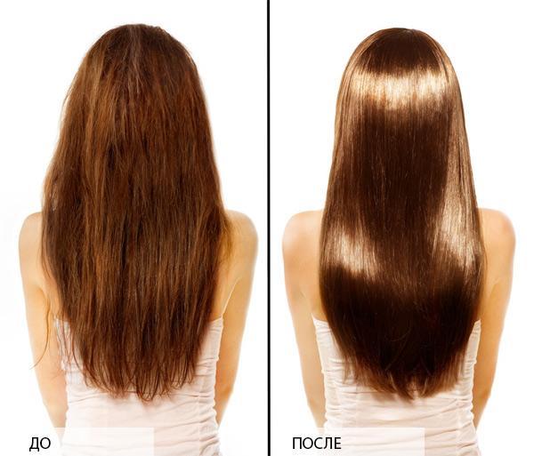 Оливковое масло для волос: фото До и После