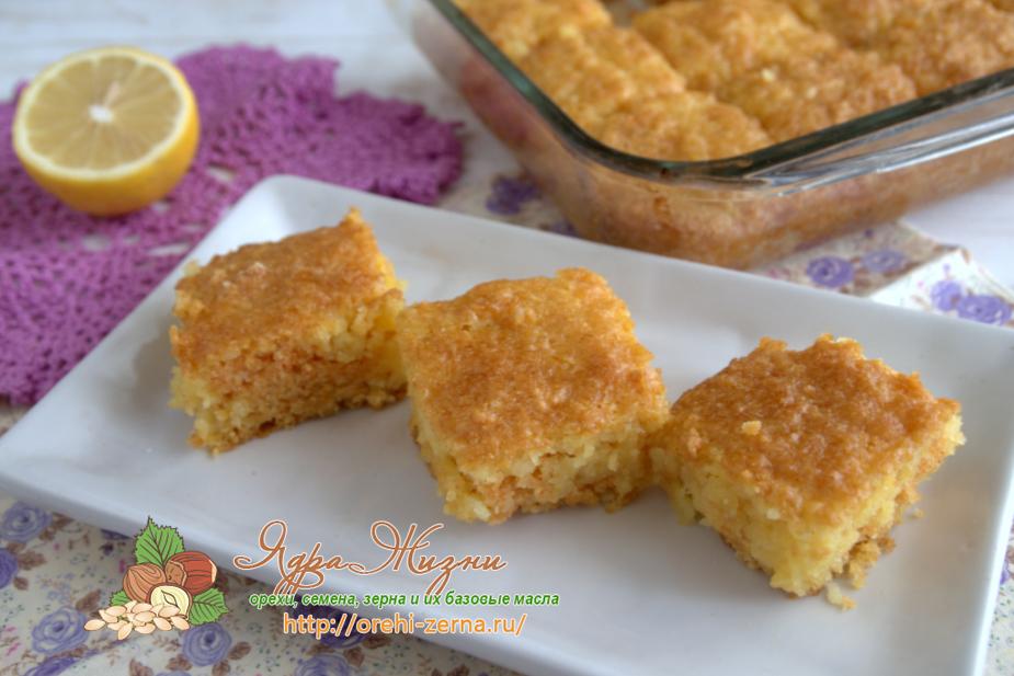 пирог из кукурузной муки м кокосовой стружкой