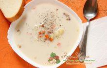 Белый суп с чечевицей