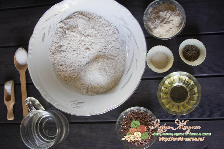 хрустящие хлебцы с семенами льна