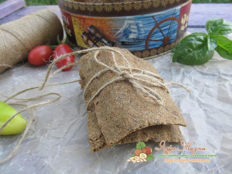 рецепт хлебцы с семенами льна и ламинарией