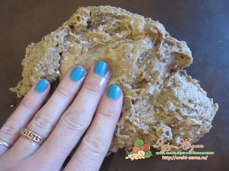 хлебцы с семенами льна и ламинарией рецепт